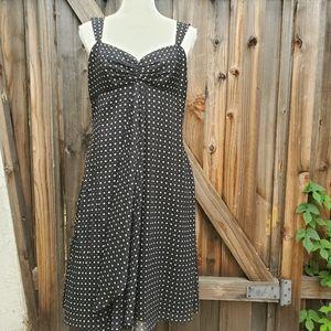 Tahari black/white polka dot  dress sz 10